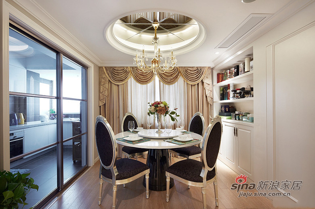 中式 三居 餐厅图片来自佰辰生活装饰在9万打造150平新古典中式家60的分享