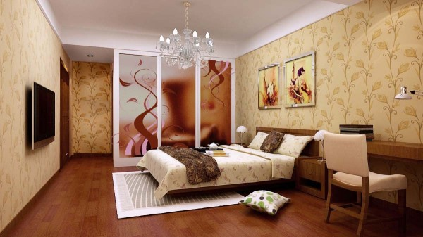 中式 三居 卧室图片来自用户1907659705在6万精装100平优雅新中式11的分享