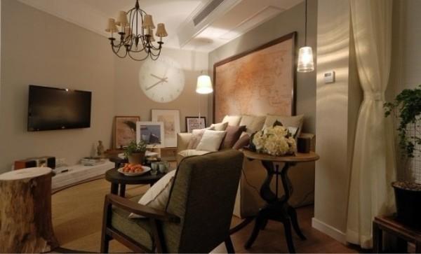 简约 二居 客厅图片来自用户2738813661在6万装扮混搭风格两居室26的分享
