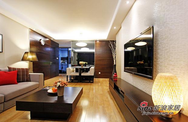 简约 三居 客厅图片来自用户2556216825在6.4万打造96平现代时尚简约靓家77的分享