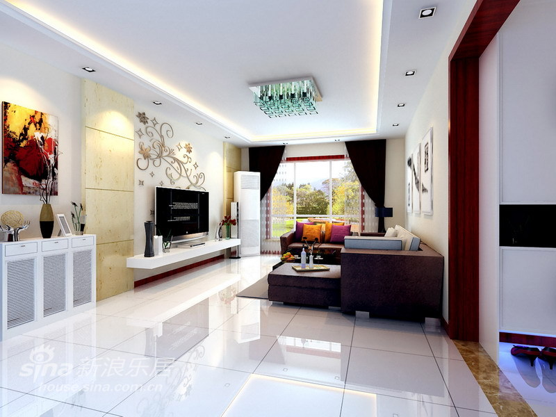 简约 三居 客厅图片来自用户2739153147在舍繁求简6万精装140平明亮、舒适的生活空间32的分享