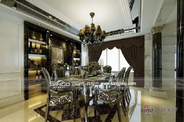 其他 别墅 餐厅图片来自用户2558746857在时尚奢华新装饰主义别墅装93的分享