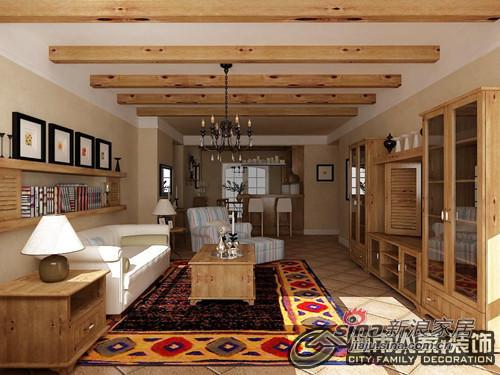 美式 二居 客厅图片来自用户1907686233在原木风格两居-自然的回归92的分享
