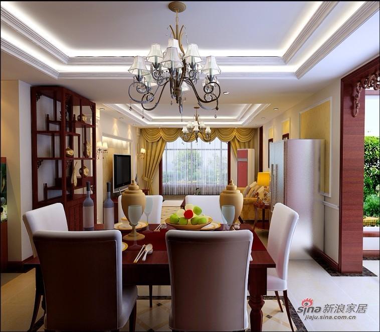 美式 四居 餐厅图片来自用户1907686233在170平米美式风格品味家居87的分享