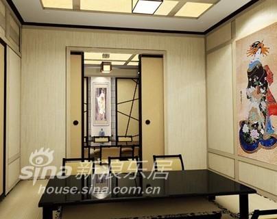 餐厅融入了现代元素和日本传统文化