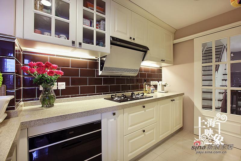 美式 三居 厨房图片来自上海映象设计-无锡站在【高清】半包15万装143平浓情巧克力38的分享