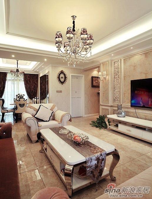 欧式 三居 客厅图片来自用户2746948411在200平简欧风豪宅 精美实景图片雍容华贵40的分享