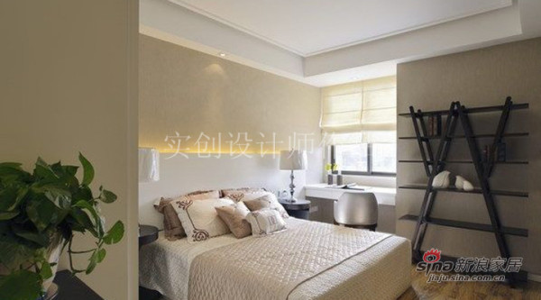 现代简约风格效果图-卧室