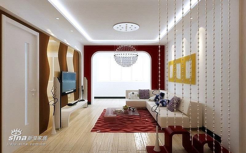简约 二居 客厅图片来自用户2739378857在纯真年代31的分享
