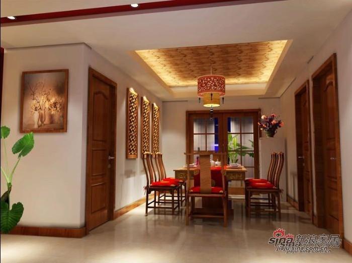 中式 三居 餐厅图片来自用户1907659705在140平方全包仅花14万打造中式古典风格16的分享
