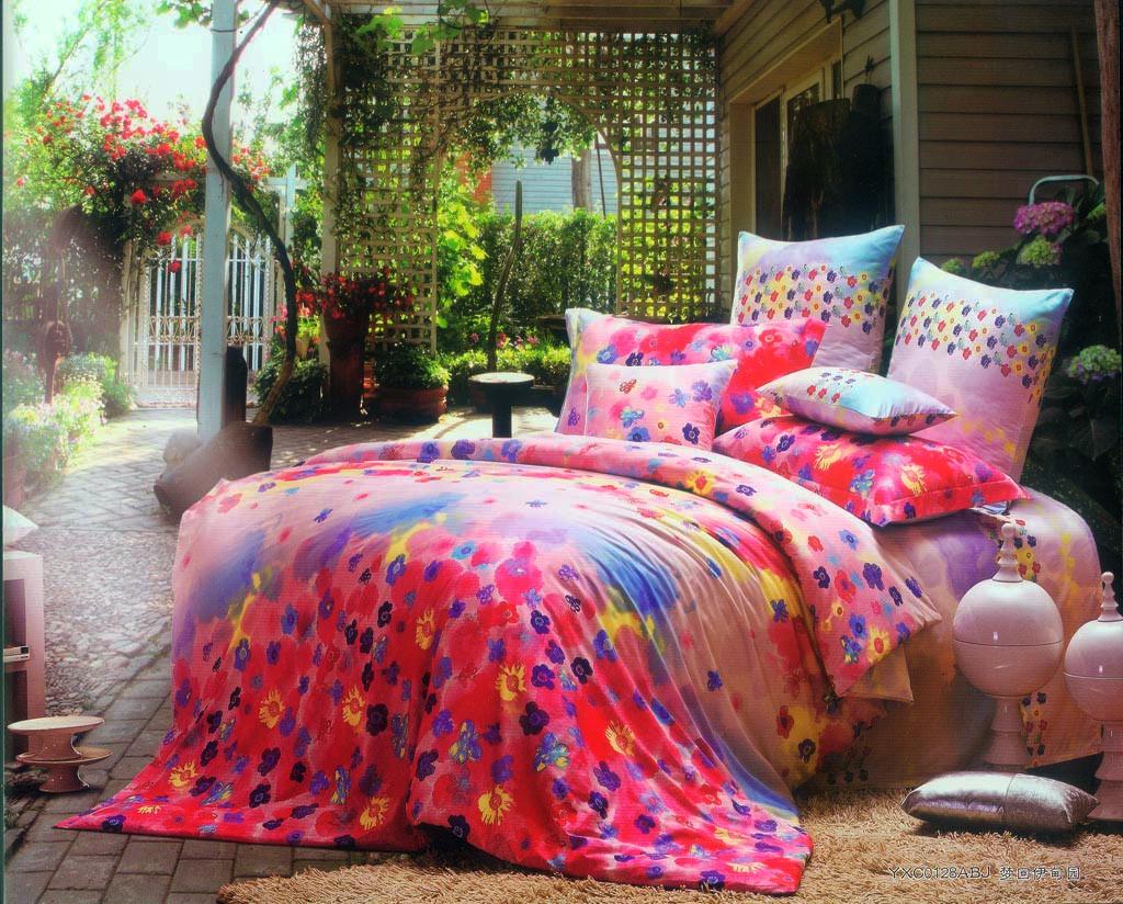 绚丽 四件套 床 卧室 碎花图片来自用户2772840321在22款舒适卧室装修 宅家族的窝心体验的分享