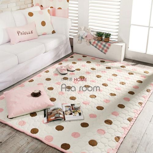 公主粉色爬行垫加厚地毯