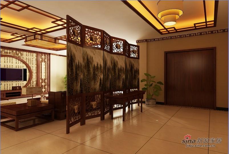 中式 别墅 玄关图片来自用户1907661335在【高清】380平成功企业家的别墅37的分享