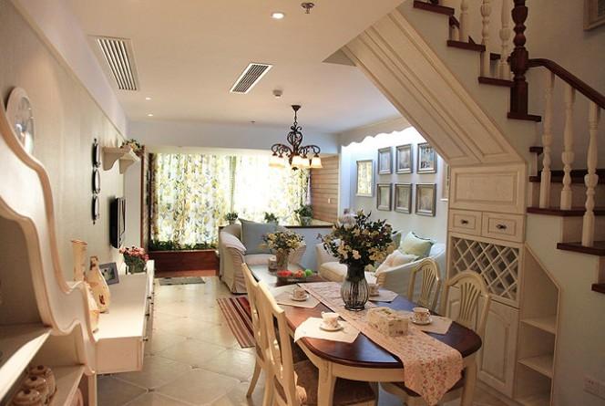 田园 loft 餐厅图片来自用户2737791853在6.8万铸造田园风格loft两居室82的分享