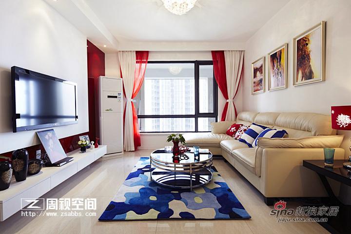 简约 二居 客厅图片来自杭州周视空间设计机构在红色诱惑89的分享