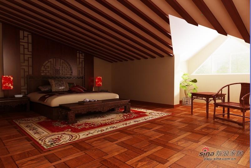 中式 别墅 卧室图片来自用户1907661335在【高清】380平成功企业家的别墅37的分享