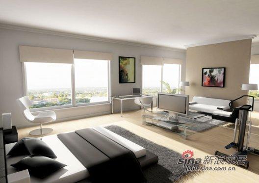 混搭 一居 卧室图片来自用户1907691673在空间色块拼接改造视觉效果41的分享