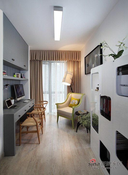 现代 三居 书房图片来自佰辰生活装饰在8万打造102平现代休闲主义舒居20的分享