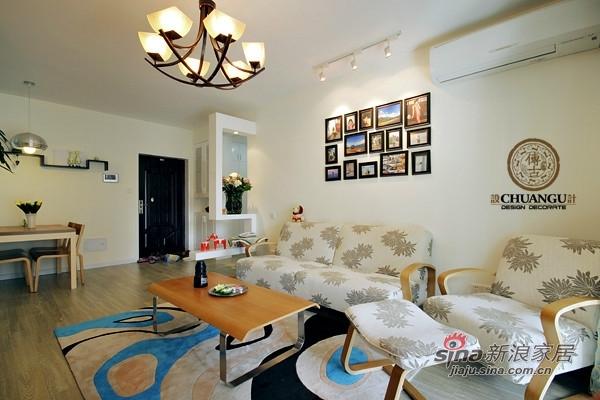 混搭 三居 客厅图片来自用户1907691673在12万90平撞色田园实景混搭款三居47的分享