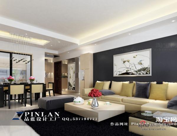 新中式客厅沙发背景墙设计