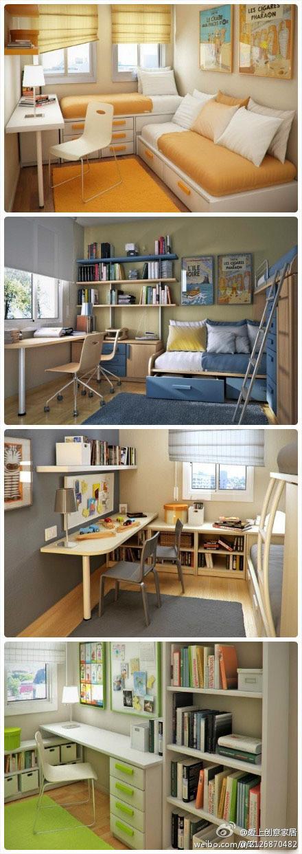 大爱这样简洁的书房!