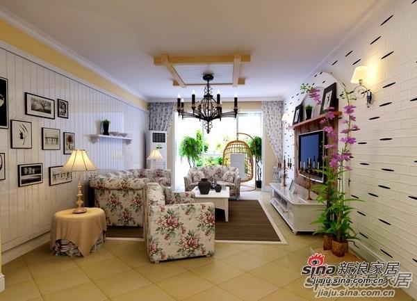 田园 二居 客厅图片来自用户2737946093在5.5万装扮90平欧式风格两居室47的分享