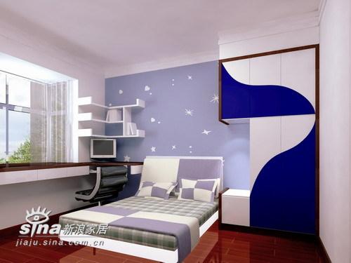 简约 三居 卧室图片来自用户2738845145在华府天地21的分享