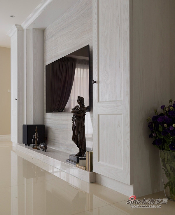 美式 三居 客厅图片来自佰辰生活装饰在9万打造170平纯白美式大气家64的分享