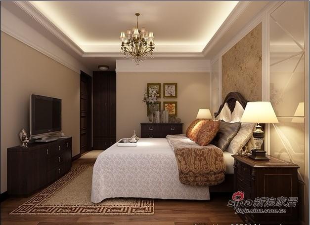 欧式 三居 卧室图片来自用户2772856065在10万整体装修150平米简欧老房78的分享