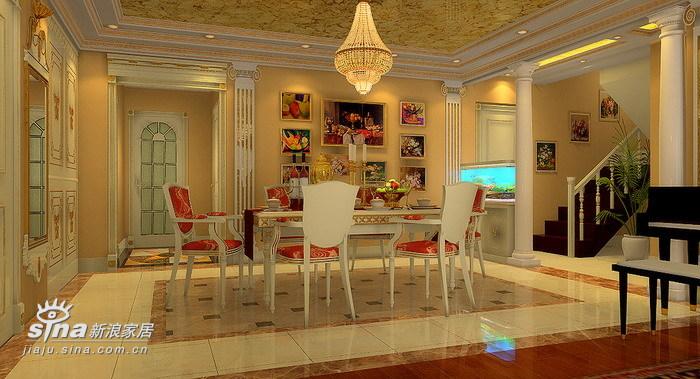 欧式 复式 餐厅图片来自用户2746869241在13万欧式古典16的分享