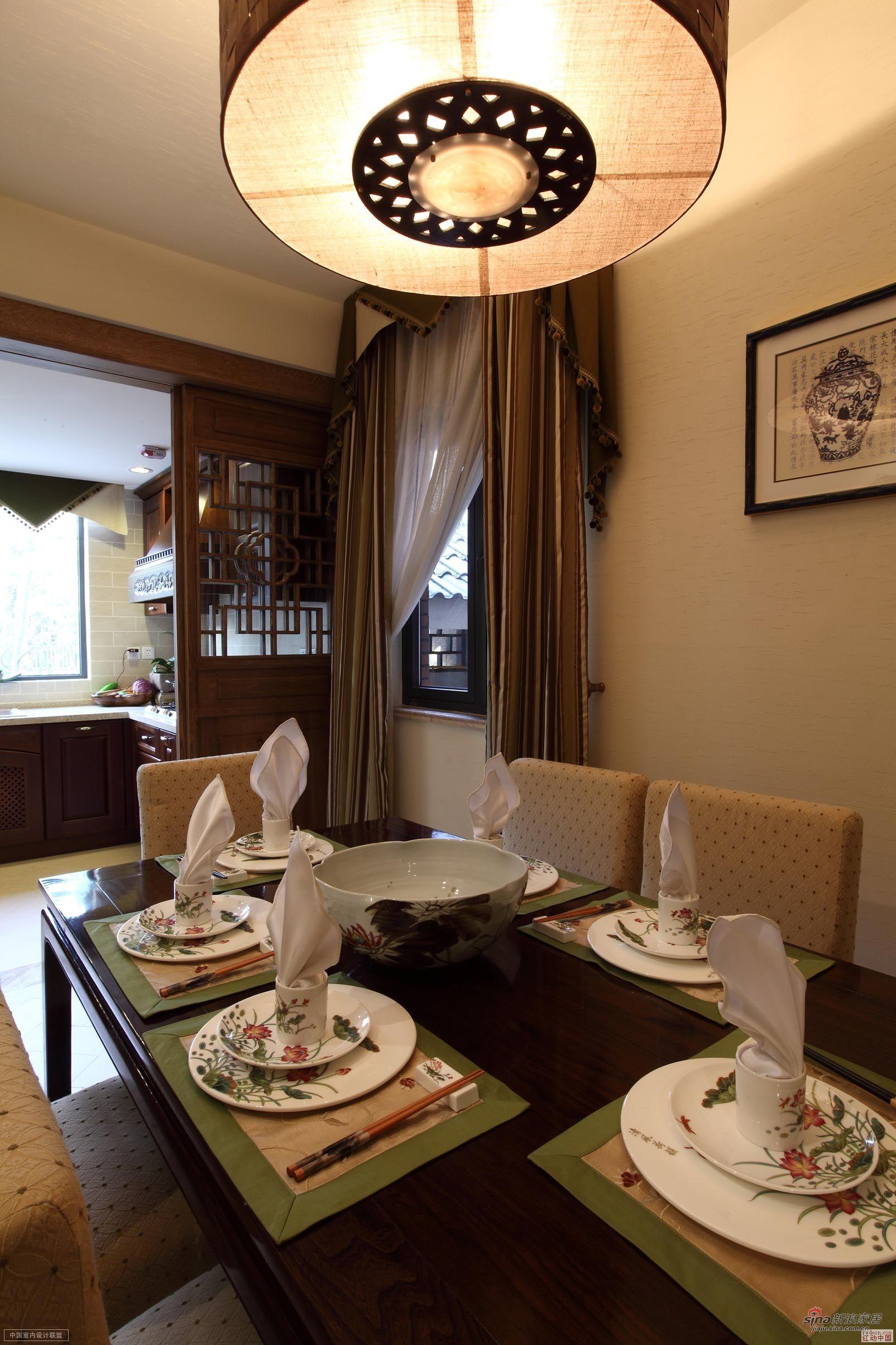 中式 复式 餐厅图片来自用户1907659705在【高清】260平古典中式风89的分享