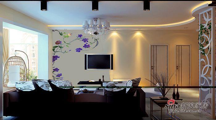 简约 二居 客厅图片来自用户2737759857在5万块钱变革96㎡浪漫两居·hold住?74的分享