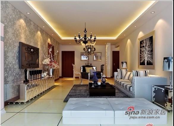 简约 三居 客厅图片来自用户2738093703在7万打造107平黑白灰色调为主的时尚三居65的分享