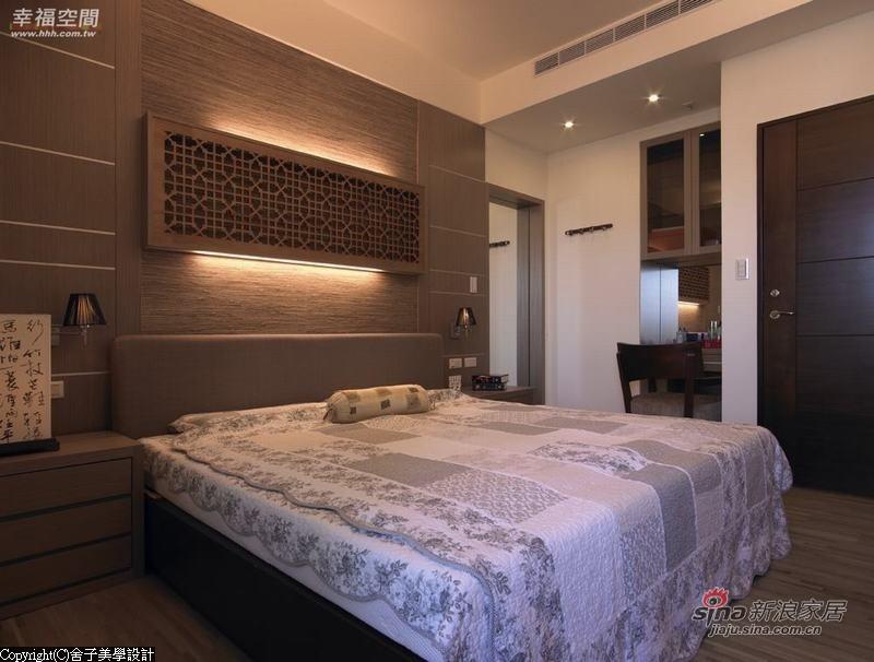 中式 二居 卧室图片来自幸福空间在【高清】108.9平刻画现代中式禅意居69的分享