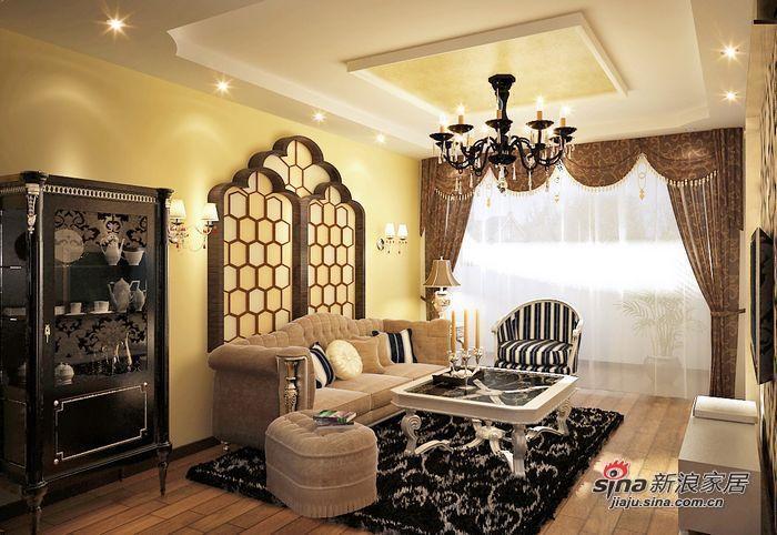 欧式 二居 客厅图片来自用户2772873991在4.9万打造70平两居室的唯美欧式家居~~56的分享