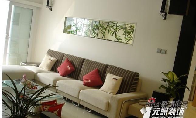 简约 二居 客厅图片来自用户2558728947在6万装78平现代简约二居69的分享
