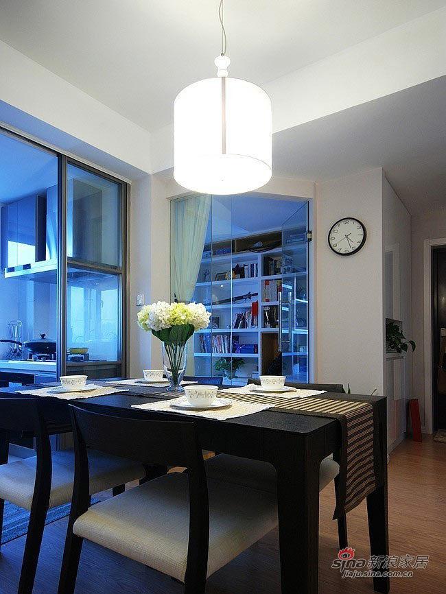现代 三居 餐厅图片来自佰辰生活装饰在夫妻10万装98平简约品位家75的分享