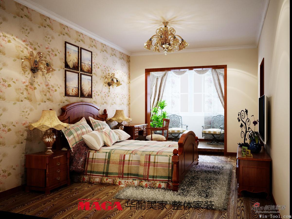 田园 三居 卧室图片来自用户2557006183在温馨浪漫的美式乡村风格66的分享