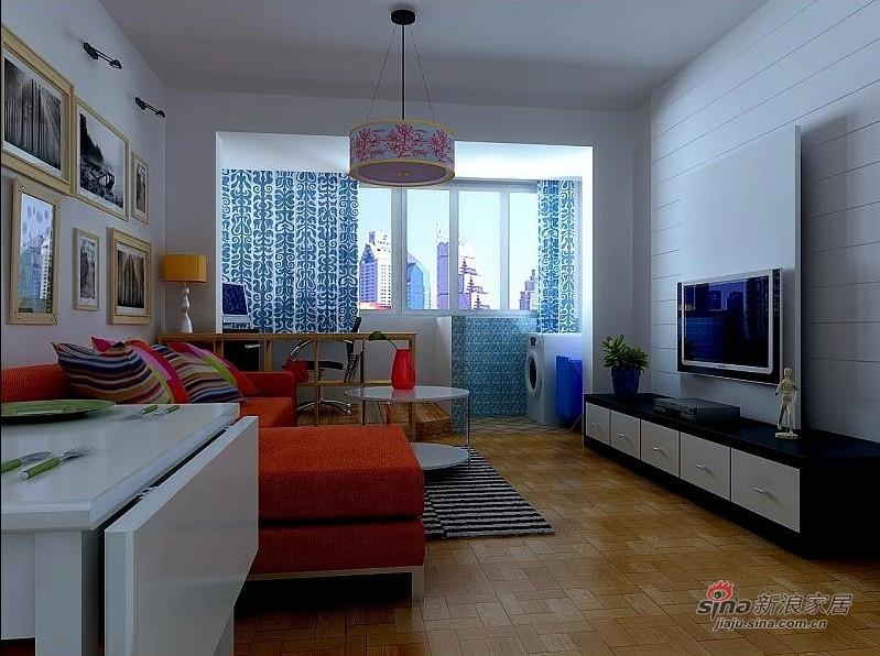 简约 二居 客厅图片来自用户2737735823在68平80后小夫妻简约2居家41的分享