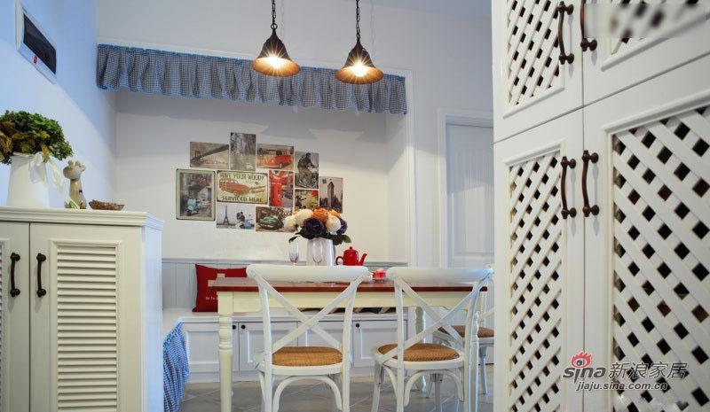 田园 二居 餐厅图片来自佰辰生活装饰在【高清】11万营造83平明艳田园三口之家96的分享