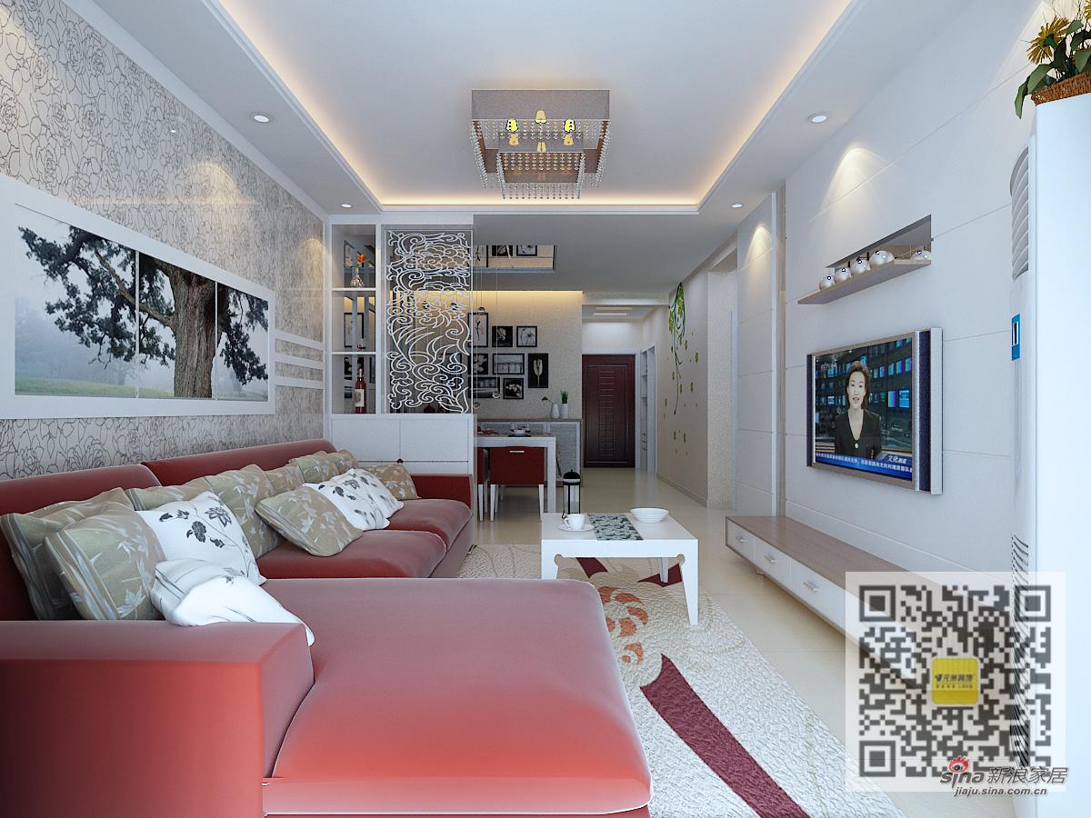 简约 二居 客厅图片来自用户2739153147在公园一号简约风格两居室53的分享