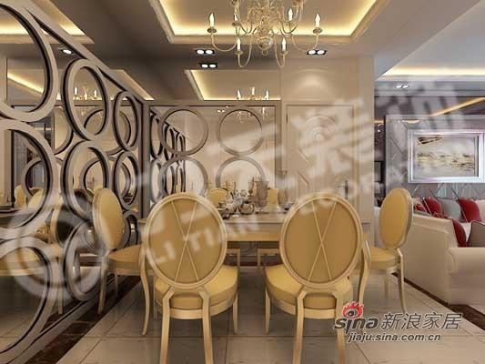 欧式 二居 餐厅图片来自阳光力天装饰在94平华丽欧式风两居61的分享
