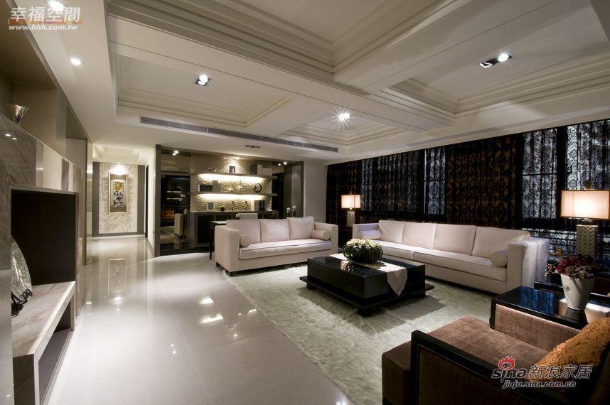 简约 四居 客厅图片来自幸福空间在264平三代同堂大气4居爱家35的分享