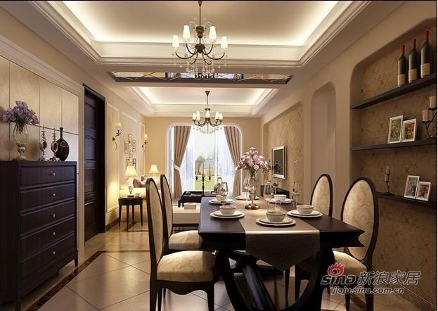 欧式 三居 餐厅图片来自用户2746948411在10万打造180平米简欧二手房华丽家居15的分享