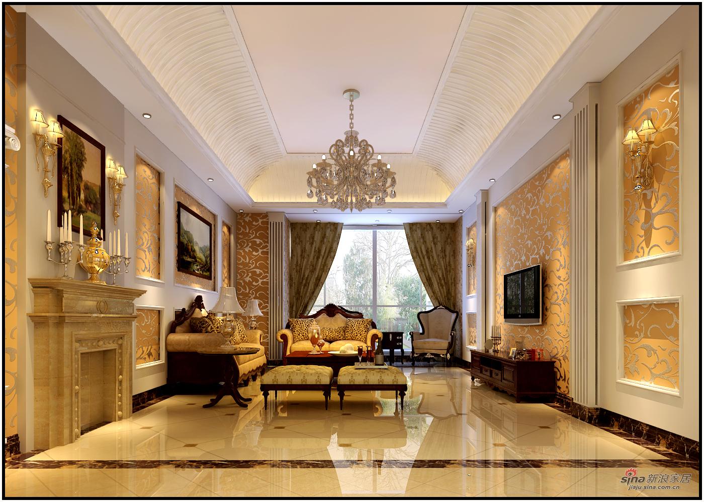 美式 复式 客厅图片来自用户1907686233在【高清】180平米奢华欧美风41的分享