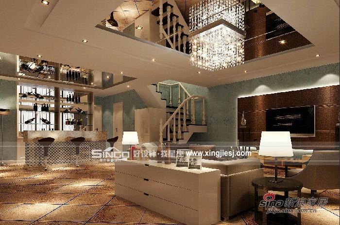 欧式 别墅 客厅图片来自用户2772856065在灰白基调衬托简单生活93的分享