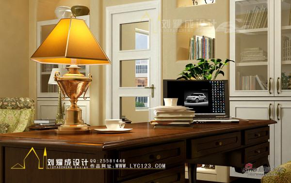 美式情怀书桌-台灯