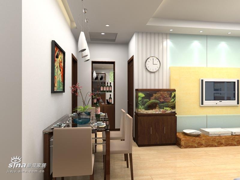 简约 二居 餐厅图片来自用户2738093703在实创装饰上京新航线户型设计案例98的分享