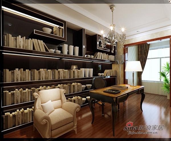中式 三居 书房图片来自用户1907662981在如何打造古典低调奢华的大三居?61的分享