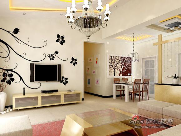 简约 三居 客厅图片来自用户2738845145在简约风打造110平仅需7万33的分享